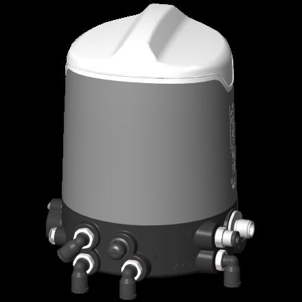 Boîtier de contrôle Sorio capot inox connecteur M12 3 électrovannes