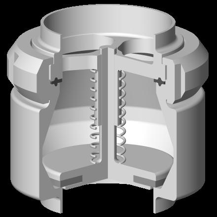 Clapet anti-retour étanchéité élastomère