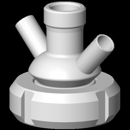 Option vanne prise d'échantillon PEX raccordement connexion avec raccord DIN
