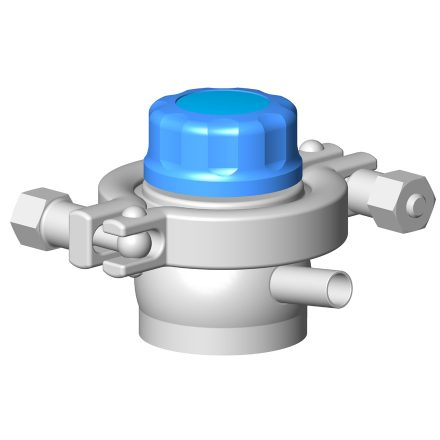 Vanne à membrane prise d'échantillon manuelle DMX PE
