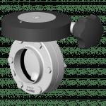 Vanne papillon manuelle DPX avec poignée micrométrique