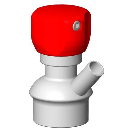 Vanne prise d'échantillon manuelle poignée rouge PEX1 stérilisation à la flamme connexion à souder sur paroi