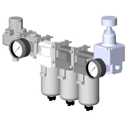 Module de traitement de l'air manuel gestion de la pression des sytèmes de raclage