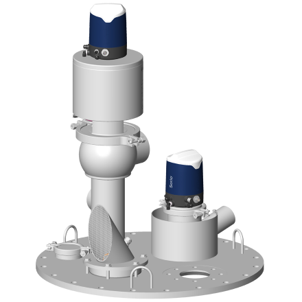 Tampon de dessus de tank avec boîtier de contrôle Sorio
