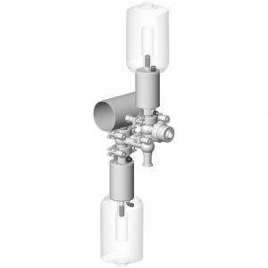 Air push module for pigging system