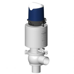 Aseptic shut-off valve DCX3 steam bearing L body with Sorio control top