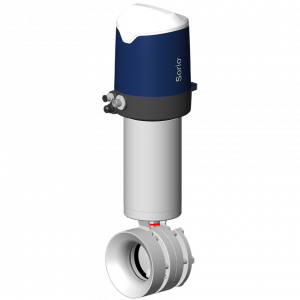 Automatic flush butterfly valve DPAX with Sorio control top