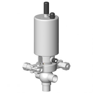Automatic fractional shut-off valve DCX3 FRACT T body with Sorio control top