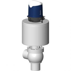 High pressure shut-off valve L body with Sorio control top