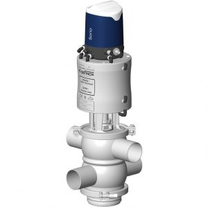 Mixproof valve VDCI MC PMO-c with double independent plugs with Sorio control top