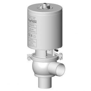 Shut-off valve DCX3 FRACT single sealing mechanical relief with L body