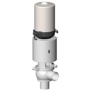 Shut-off valve DCX3 single sealing 3 functions L body